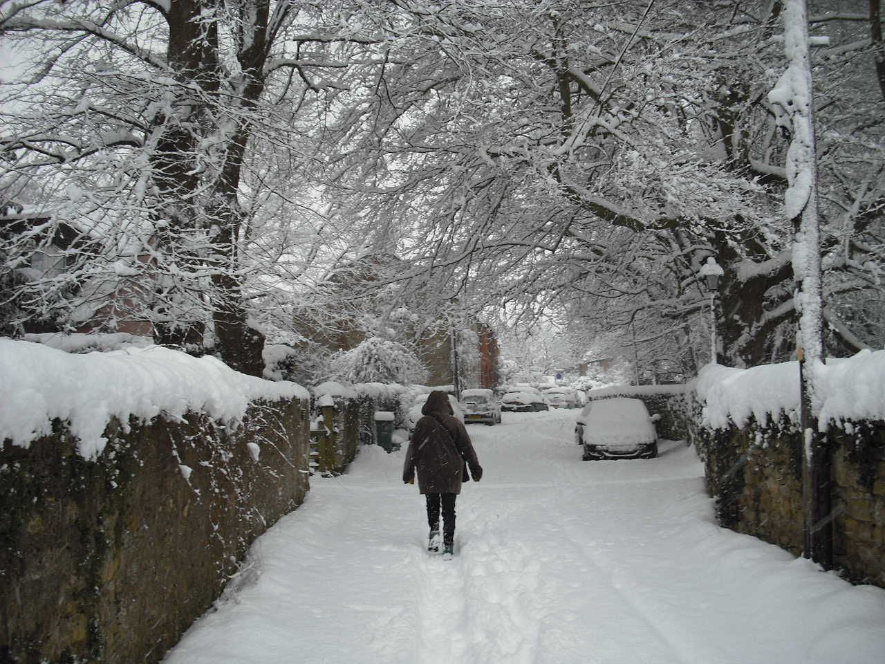 Stoke Place in snow